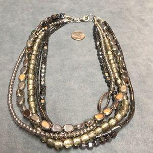 NWT Silpada necklace N1936 hematite, glass, silver